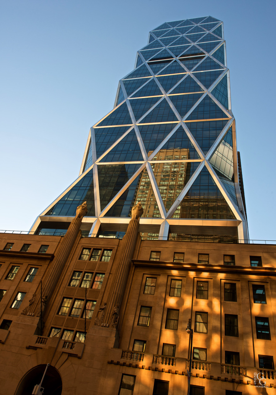 Hearst Tower au couchant