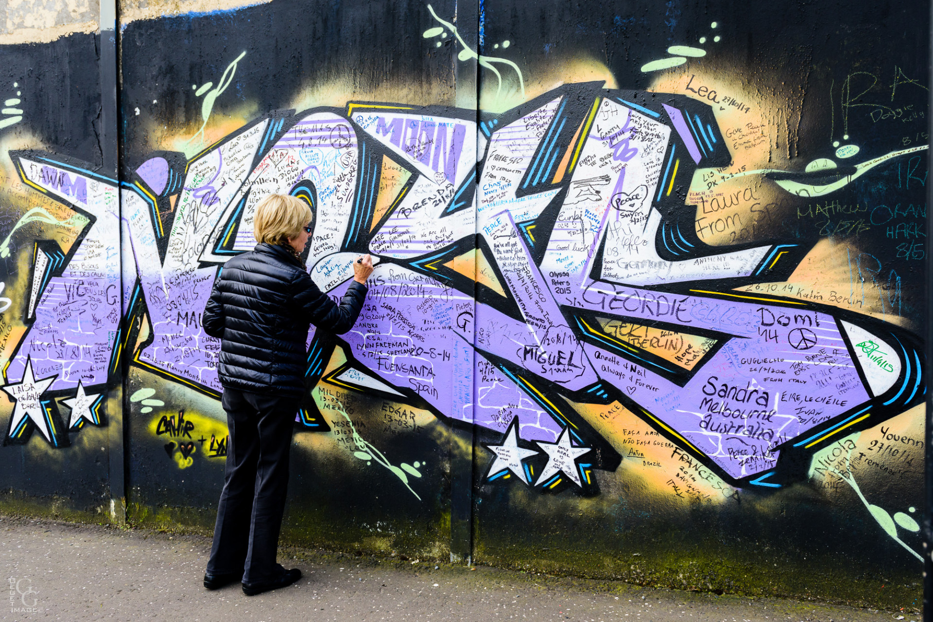 Belfast. Le mur de la Liberté.